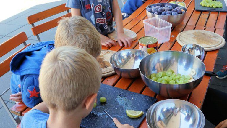 Kochen in den Feriencamps